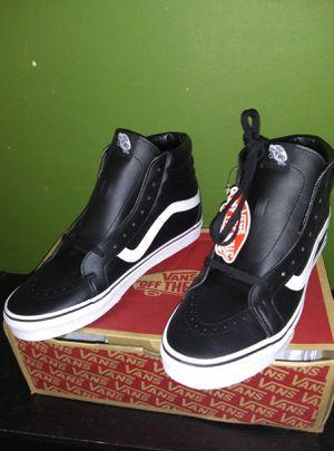 Vans Sk8 Hi Reissue Shoes - Classic Tumble Black True White for Sale in Long Beach, CA