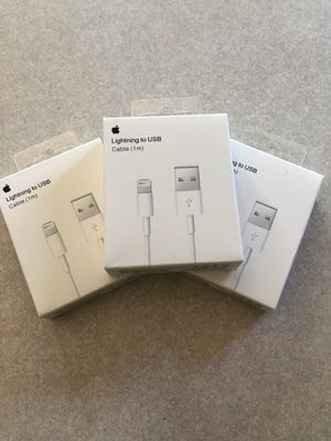 Genuine apple lighting cables for Sale in Cheshire, CT