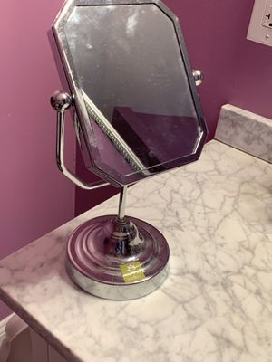 Double sided, magnified vanity makeup mirror for Sale in Riverside, NJ