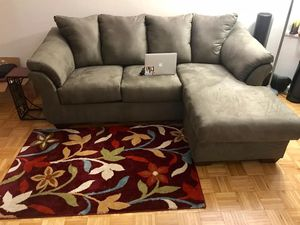 New Reversible Microfiber L-shape sectional sofa for Sale in Jersey City, NJ