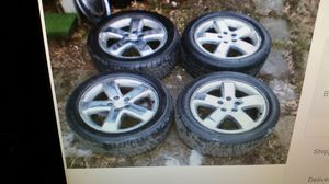 For Pontiac G6 Chrome wheels with tires like new 17in for Sale in St. Peters, MO