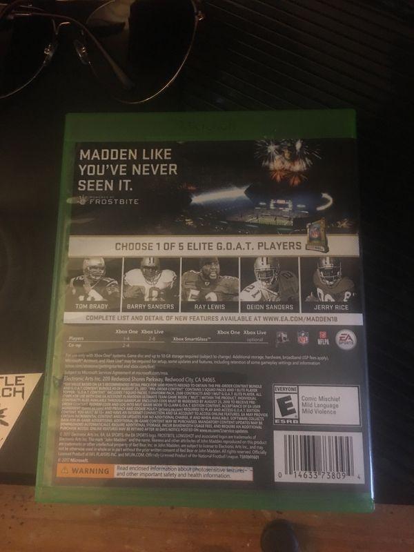 Madden 18 Xbox1