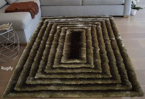 Brown caramel gold shaggy shag 5x7 rug square 3d pattern soft carpet for Sale in Los Angeles, CA