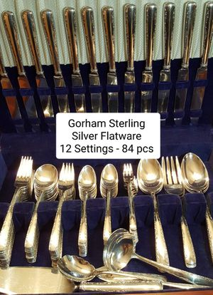 Gorham Sterling Silver Flatware - 12 Settings - 84 pieces - Includes serving pieces + Storage Box for Sale in Palm Harbor, FL