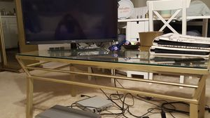 Gold Living room table/ tv stand for Sale in Germantown, MD