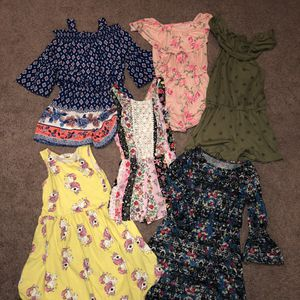 Girls bundle rompers and dresses Size M 7/8 for Sale in San Antonio, TX