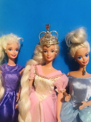 3 Barbie princess for Sale in Garland, TX