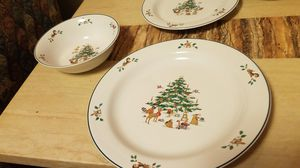 Woodland Christmas dishes for Sale in Waltham, MA