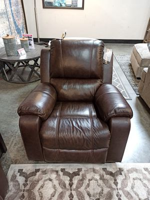 Real Leather Rocking Recliner, Brown for Sale in Santa Fe Springs, CA