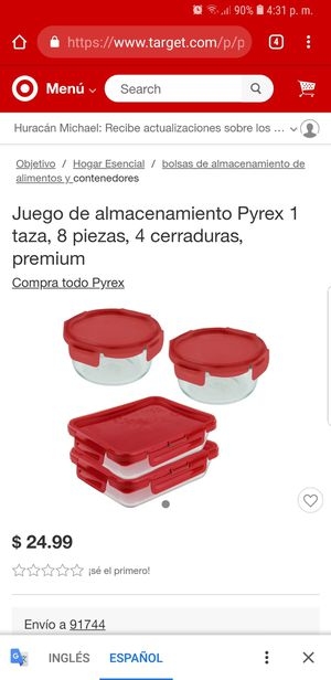 Pyrex 4 Lock for Sale in ROWLAND HGHTS, CA