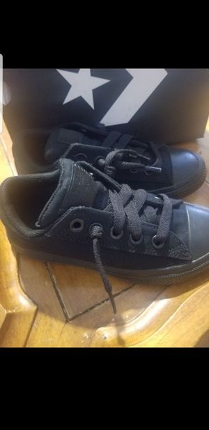 New boys size 12 black Converse All-Star street slip-on casual tennis shoes for Sale in Gilbert, AZ