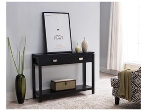 K&B Furniture 42 in. Rectangle Wood Console Table Black Color A4-98 for Sale in St. Louis, MO