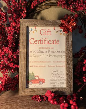 Photo Session Gift Certificates for Sale in Scottsdale, AZ
