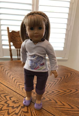 American girl doll with hair piece for Sale in Agua Dulce, CA