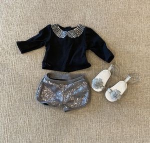 American Girl Doll Sliver Sparkly Sequins Outfit for Sale in Las Vegas, NV