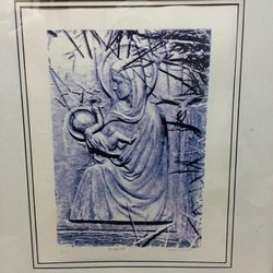 Art Framed, Matted, Signed, Numbered 7/25 Art Mary & Baby Jesus for Sale in Redwood City,  CA