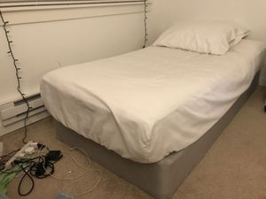 Free twin mattress and base pickup 10/25-26 for Sale in Sunnyvale, CA