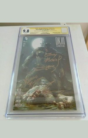 Dark Knight lll CGC SS 9.8 4x Sigs - Frank Miller, Azzarello, Kubert, Janson for Sale in Chevrolet, KY