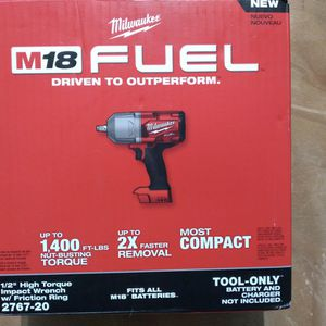 Milwaukee 1/2 High Torque Impact Wrench for Sale in Miami, FL