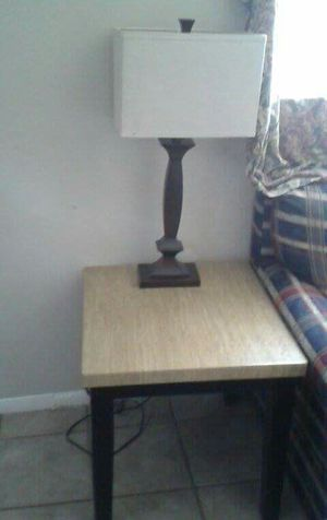 Coffee and end table with lamp for Sale in Lake Wales, FL