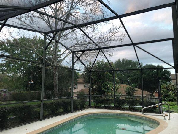 Rescreen pool enclosure