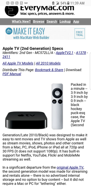 Apple tv 2nd gen for Sale in View Park-Windsor Hills, CA