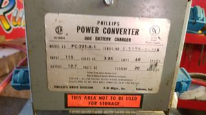 Power Converter & Battery Charger from old camper for Sale in Milford, NH