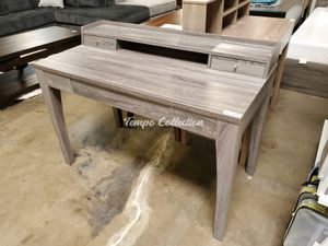 Desk with Drawers and Hutch, Grey, SKU# ID172062TC for Sale in Norwalk, CA