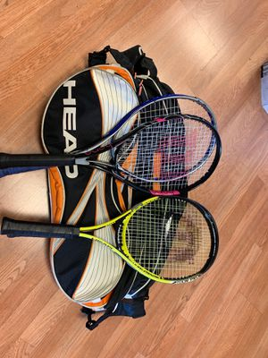 Head tennis bag and Wilson Prince Head racquets for Sale in Westminster, CA