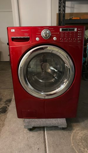 LG steam washer red front load washing machine for Sale in Las Vegas, NV