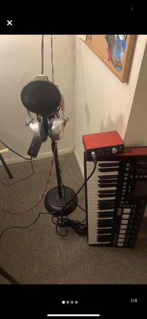Mic with stand and other music Equipment for Sale in Garfield, NJ