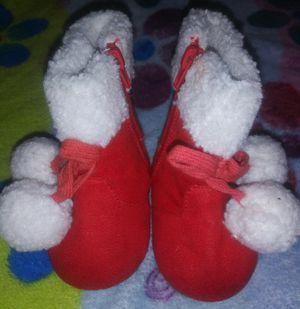 Red little girl boots $10.00 PICK UP ASAP NEED GONE ASAP for Sale in San Bernardino, CA