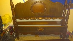Antique solid wood full s bed frame for Sale in Topeka, KS