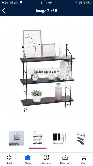 Brand new in box 3-tiered black wall shelf for Sale in Tualatin, OR
