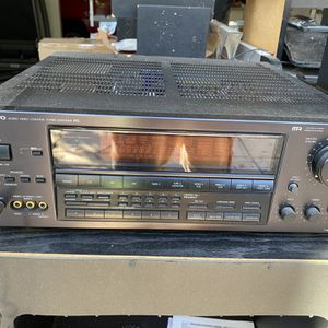 Onkyo Stereo System TX-SV70PRO Onkyo AV Receiver Amplifier Tuner Stereo Audio Video and Onkyo Tape Deck and Onkyo CD Changer and Onkyo Cabinet for Sale in San Diego, CA