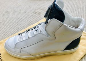 REDUCED PRICE: MENS LOUIS VUITTON DAMIER GRAPHITE WHITE LEATHER SHOES for Sale in San Francisco, CA