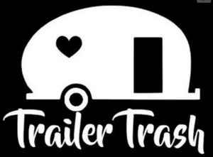 Camper trash can white decal. CUTE for Sale in Weston, WI