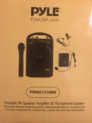 PYLE Portable PA Speaker Amplifier & Microphone System for Sale in Jersey City, NJ