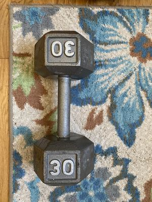 30 Pound Iron Hex Dumbell for Sale in Melvindale, MI