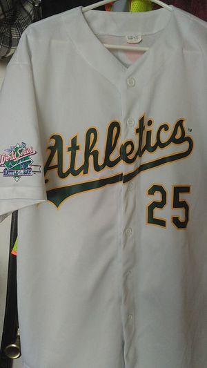 1989 World Series Oakland A's jersey. #25 McGwire for Sale in Stockton, CA