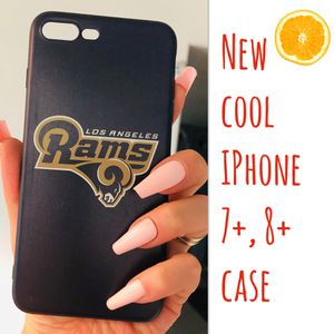 New cool iphone 7+ or iphone 8+ PLUS case rubber mens women's RAMS FOOTBALL hypebeast hype swag for Sale in San Bernardino, CA