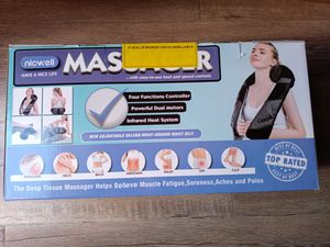 Massagers for Neck and Back with Heat, NICWELL Shiatsu Back and Neck Massager with Heat Deep Kneading Mas... for Sale in Anaheim, CA