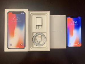 "IPhone X 256gb ATT/CRICKET ""hablo español"" READ ADD for Sale in West Jordan, UT"