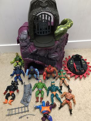 Vintage Masters of the Universe Snake Mountain Castle & Figures for Sale in Herndon, VA