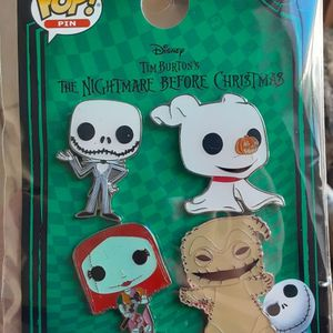 Brand New Funko Pop Set Of 4 Nightmare Before Christmas Enamel Pins for Sale in Moreno Valley, CA