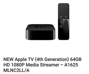 apple tv 4th Gen, 64GB, HD 1080p for Sale in Hialeah, FL