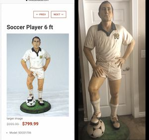 6 ft soccer statue collectible $600/ trade for Sale in Los Angeles, CA