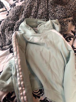 mint green adidas hoodie for Sale in Johnston, RI