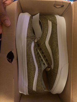 LUREX GLITTER VANS / SPECIAL EDITION SZ 9 IN WO. for Sale in Frisco, TX