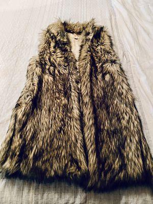 Michael Kors women's faux fur sleeveless cardigan for Sale in Phoenix, AZ